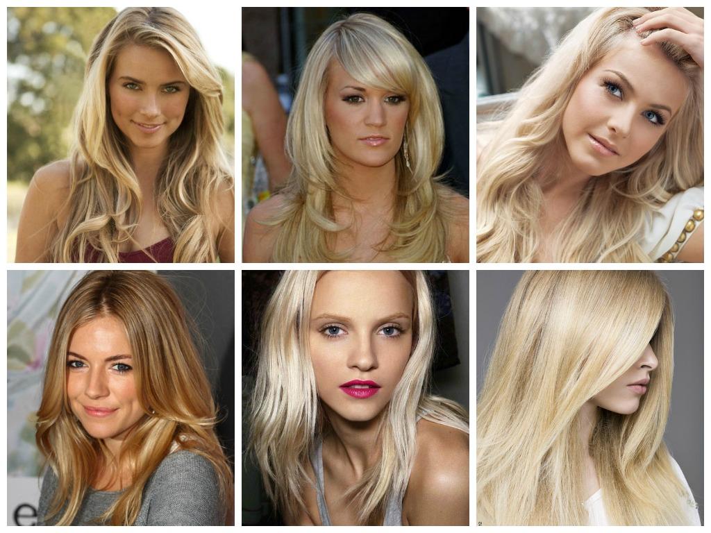 Палитра оттенков блонд