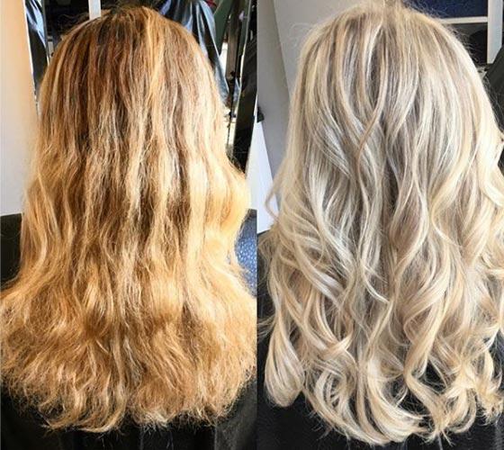 Тонирование в блонд