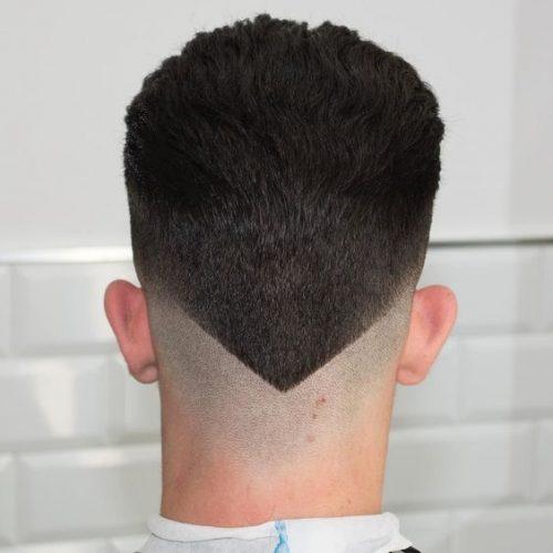 мужская стрижка сзади треугольник