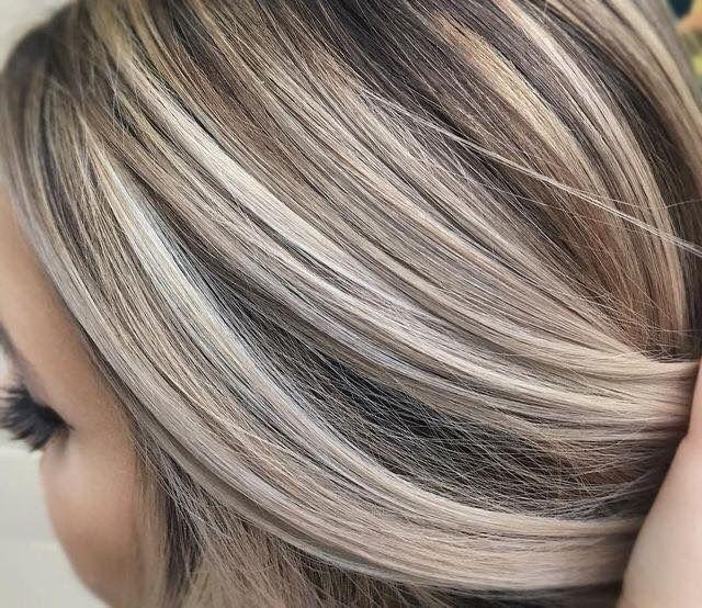 Мелирование полностью седых волос