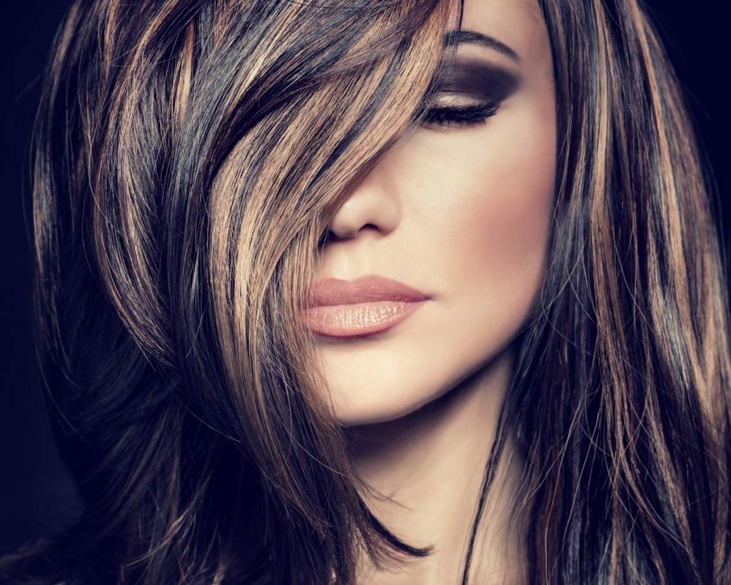 Осветленные передние пряди волос