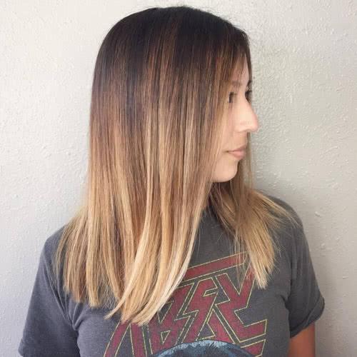 Варианты покраски русых волос