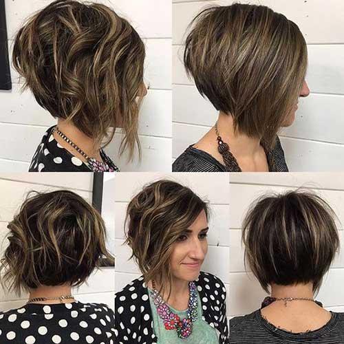 колорирование каре на темные волосы