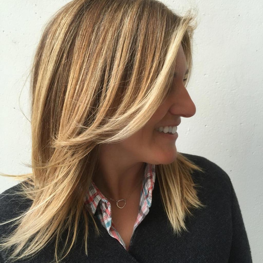 Брондирование на короткие русые волосы