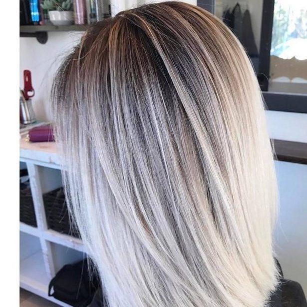 балаяж светлые волосы