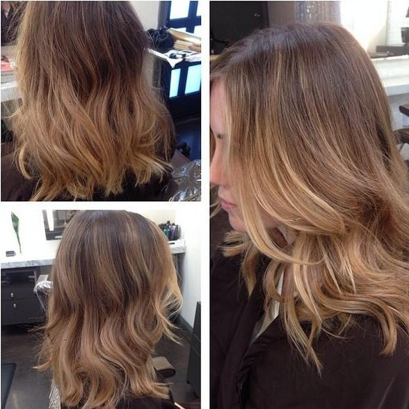 колорирование волос на русые волосы средней длины