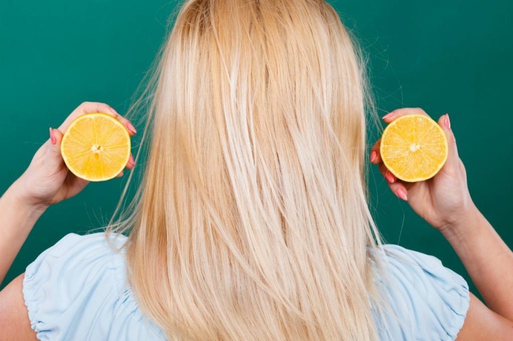 осветление волос с помощью лимона