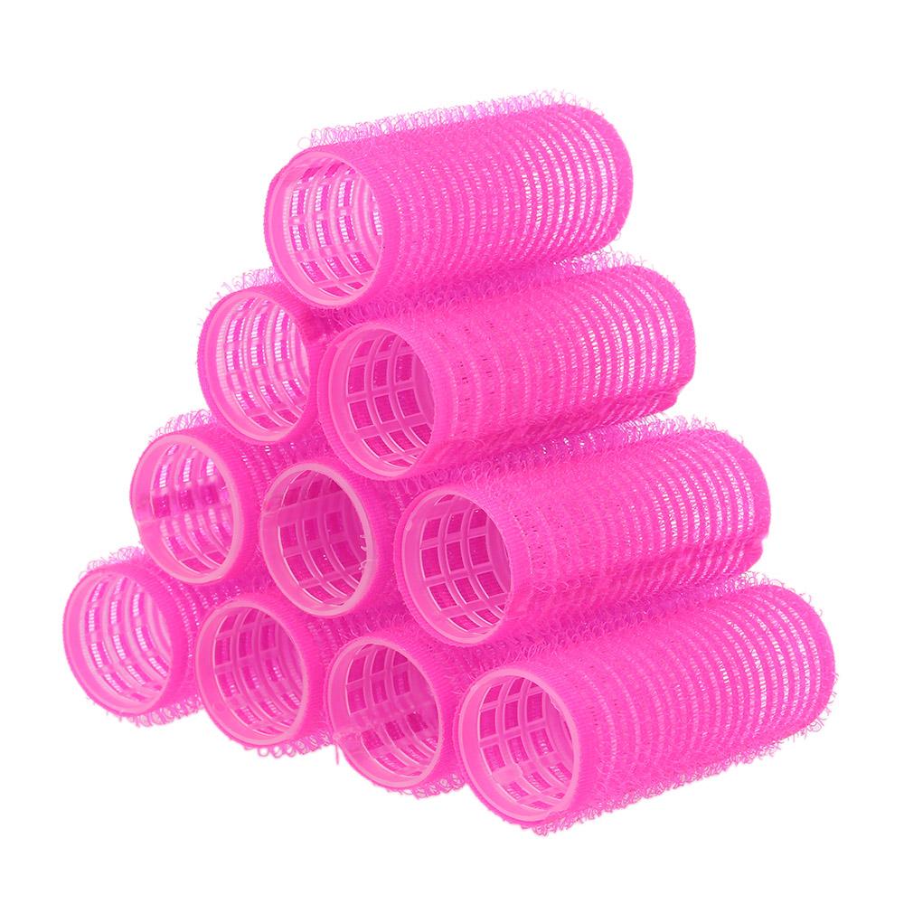 Розовые бигуди-липучки